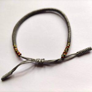 Bracelet tibétain Gris Argent